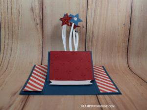 Stampin' Up! CAS Easel card designed and made by Demo Pamela Sadler. See more cards at stampinkrose.com #stampinkpinkrose