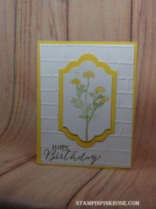Stampin' Up! CAS Happy Birthday made with Wild about Flowers designed by demo Pamela Sadler. See more cards at stampinpinkrose.com #stampinpinkrose