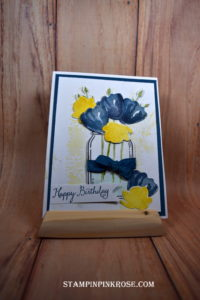 Aug Blog Hop Jar with Flowers