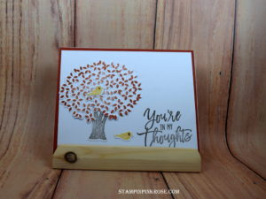 Stampin' Up! CAS thinking of you card made with Thoughtful Branches stamp set and designed by Demo Pamela Sadler. See more cards at stampinkrose.com #stampinkpinkrose