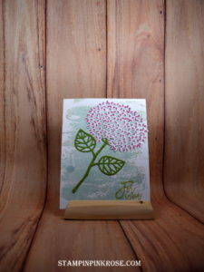 Stampin' Up! CAS Friendship card made with Thoughtful Branches stamp set and designed by Demo Pamela Sadler. See more cards at stampinkrose.com #stampinpinkrose