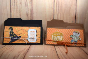Stampin' Up! CAS Candy  Bar Holders made with Scenic Sayings stamp set and designed by Demo Pamela Sadler. See more cards at stampinkrose.com #stampinkpinkrose