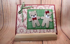 Stampin' Up! CAS Christmas card made with Cookie Cutter Christmas Stamp Set and designed by Demo Pamela Sadler. See more cards at stampinkrose.com #stampinkpinkrose
