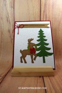 Stampin' Up! Christmas card made with Santa's Sleigh and designed by Demo Pamela Sadler. See more cards at stampinkrose.com #stampinkpinkrose