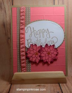 Stampin' Up! Birthday card made with Oh So Succulent stamp set and designed by Demo Pamela Sadler. See more cards at stampinkrose.com #stampinkpinkrose #etsycardstrulyheart