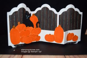 Stampin' Up! Halloween card made with Pick a Pumpkin stamp set and designed by Demo Pamela Sadler. Come to the pumpkin patch. See more cards at stampinkrose.com and etsycardstrulyheart