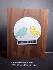 Stampin' Up! Friendship card made with Color Me Happy stamp set and designed by Demo Pamela Sadler. Use this set for any occasion you need. See more cards at stampinkrose.com and etsycardstrulyheart